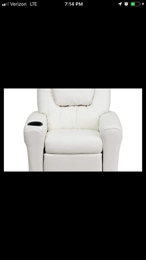 White kids recliner - brand new in box for Sale in Buffalo, NY