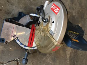 "Ryobi 10"" compound miter saw for Sale in San Jose, CA"