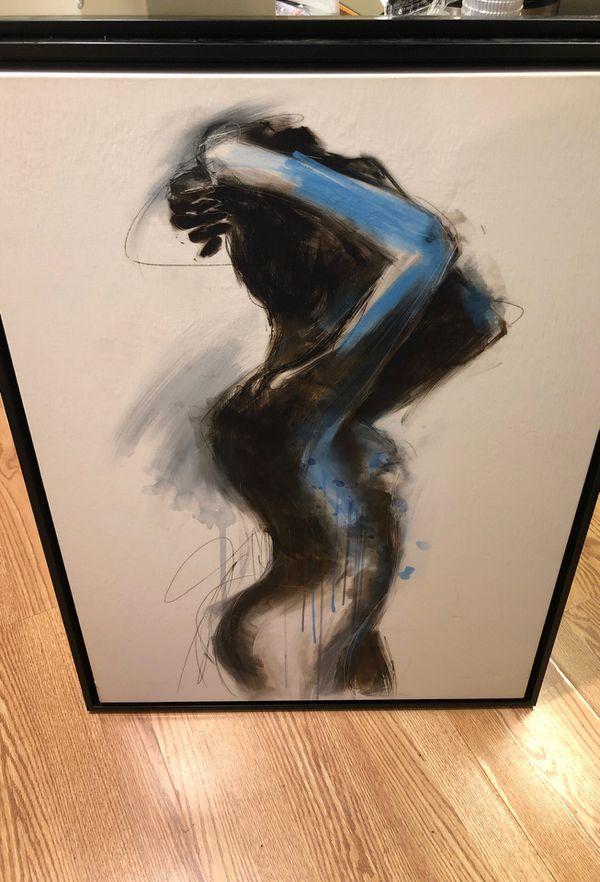 People Canvas Art Femme de Bleu I,II and III. Original price $319.00 EACH, I selling for $100 each