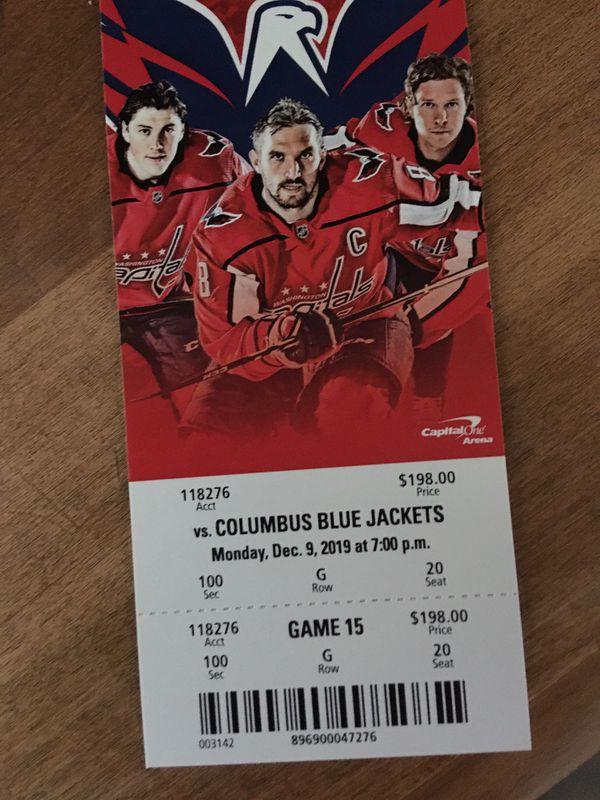 Two Washingtom Capitals Tickets