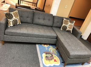 Brand New Grey Linen Sectional Sofa Couch for Sale in Silver Spring, MD