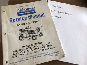 Free Cub Cadet service manual and 1320 part number list. for Sale in St. Louis, MO