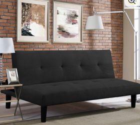Serta Casual Convertible Easton Sofa Microfiber, Black for Sale in Mount Laurel Township,  NJ