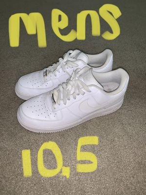 Flaves Air Force ones men's all white size 10.5 for Sale in Richmond, VA