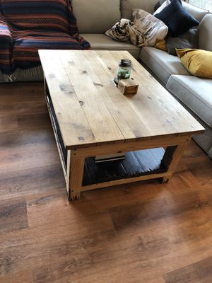 Rustic Coffee Table Solid Wood for Sale in Sandy, OR