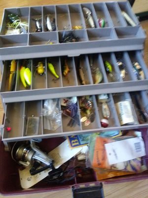 Large fish loaded tackle box for Sale in Las Vegas, NV