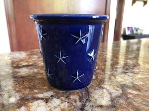 Longaberger Blue with Stars Mini Crock Votive Candle Holder for Sale in Granville, OH
