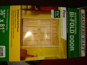 Solid pine 36/81 bifold doors for Sale in Keokuk, IA