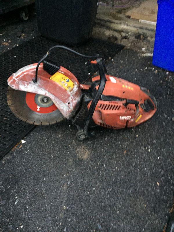 Hilti concrete cutter