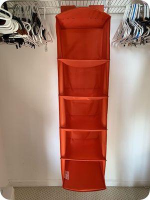 5 Shelf Hanging Closet Organizer - Orange color for Sale in Miami, FL