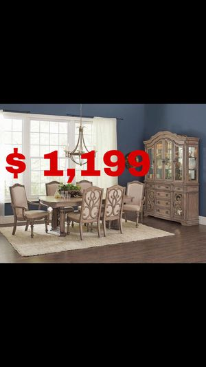 Beautiful new 7 piece dining table set (6 chairs & 1 table) only 1,199$!!! for Sale in San Leandro, CA