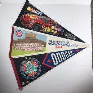Pennant baseball & nascar cubs dodger lot of 3 for Sale in Sioux Falls, SD