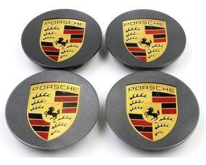 Gray center caps Porsche 76mm 3 inch diameter brand new set of 4 for Sale in HUNTINGTN BCH, CA
