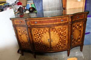 WEEKEND DISCOUNT!! Unique Hammary Hand Crafted Credenza, Entertainment console - tv cabinet - Excellent condition for Sale in Littleton, CO