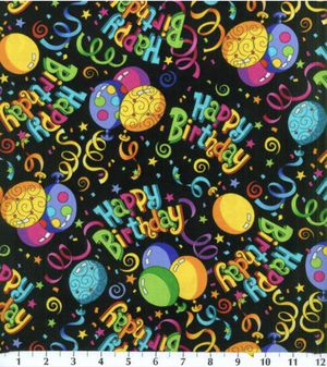 100% Cotton ~ Birthday Fabric ~ 1 Yard for Sale in Lancaster, NY