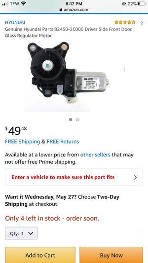 Brand New Genuine Hyundai Parts 82450-2C000 Driver Side Front Door Glass Regulator Motor for Sale in Las Vegas, NV
