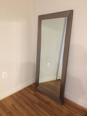Leaning Silver Mirror for Sale in Arlington, VA