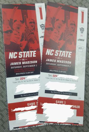 NC State vs James Madison tickets for Sale in Durham, NC