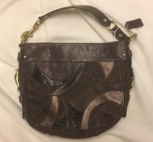COACH brown leather HOBO canvas bag for Sale in Dallas, TX