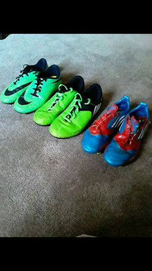Boys soccer cleats (all sold together) for Sale in Rockville, MD