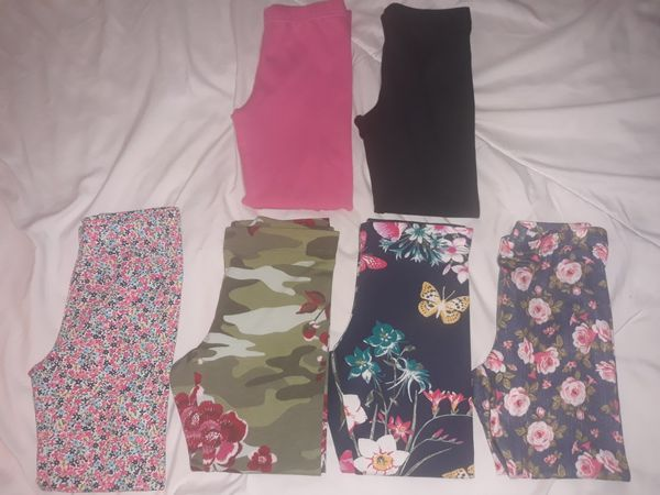6 pairs girls leggings in 4/5T & 5T.