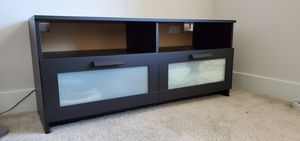 TV Stand in Dark Brown Wood with Storage for Sale in Altamonte Springs, FL