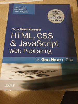 Sams teach yourself HTML, CSS AMD Javasript for Sale in Penn Hills, PA