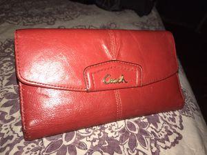 Red Original coach wallet for Sale in La Puente, CA