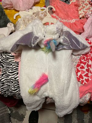Unicorn costume for baby 0 to 6 months old or baby girl for Sale in Los Angeles, CA