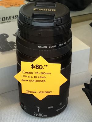 Canon 75-300mm Lens for Sale in Woodstock, GA