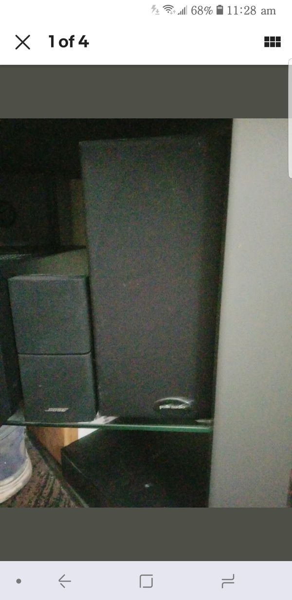 Polk Audio Surround Sound Speakers. $50. Pickup in Oakdale