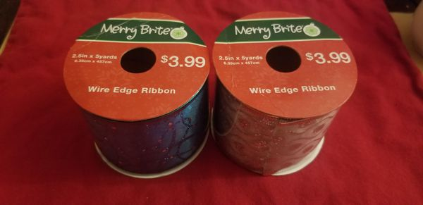 2 Ribbon wire edge for Christmas projects