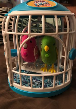Little Live Pets Singing/Talking Birds with Cage for Sale in Grand Island, NE