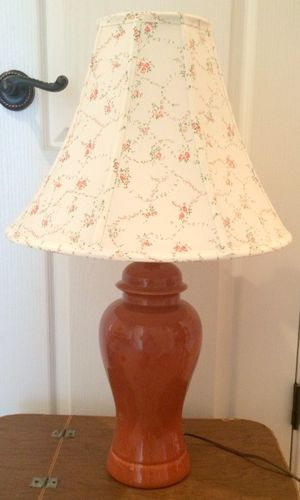 Ceramic lamp and shabby chic Laura Ashley shade for Sale in Chesapeake, VA