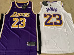 Lebron James Lakers Jersey Los Angeles #23 White// Purple// STITCHED S-XXL for Sale in Burbank, CA