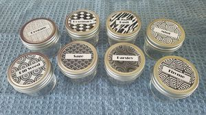 Set of 8 - 4oz Canning Jars with Special Label for Sale in York, PA