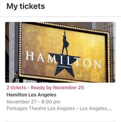 Hamilton (Touring) Tickets for Sale in Cypress,  CA