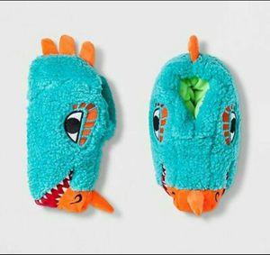 Cat & Jack Boys Lizard Head Slip On Bootie Slippers Blue Size Medium 2-3 for Sale in Orlando, FL