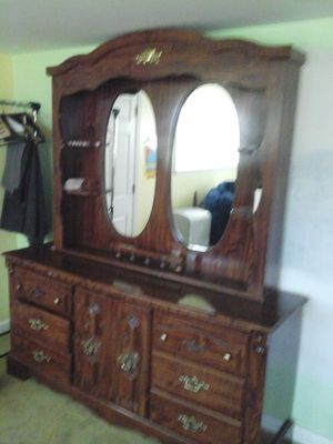 Dresser Wardrobe and Nightstand for Sale in Rockville, MD