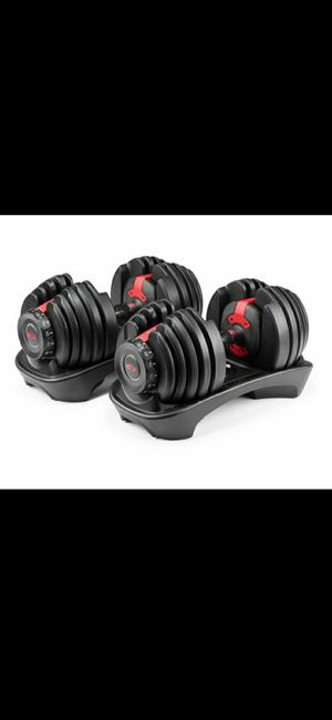 Pair of bowflex 552 adjustable dumbbells for Sale in Snohomish, WA