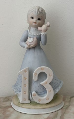 1983 Lefton China - THE CHRISTOPHER COLLECTION Porcelain Birthday Girl Figurine Age 13 for Sale in Peachtree Corners, GA