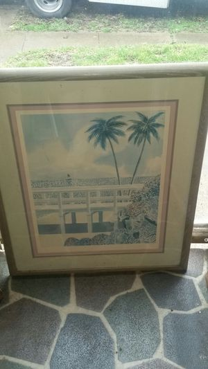 PETER WONG LITHOGRAPH PAINTING for Sale in Greenfield, IN