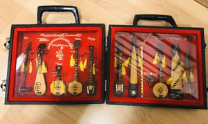 Vintage Vietnamese Decorative Stringed Miniature Wood Instrument Lot Case Dan for Sale in Seattle, WA
