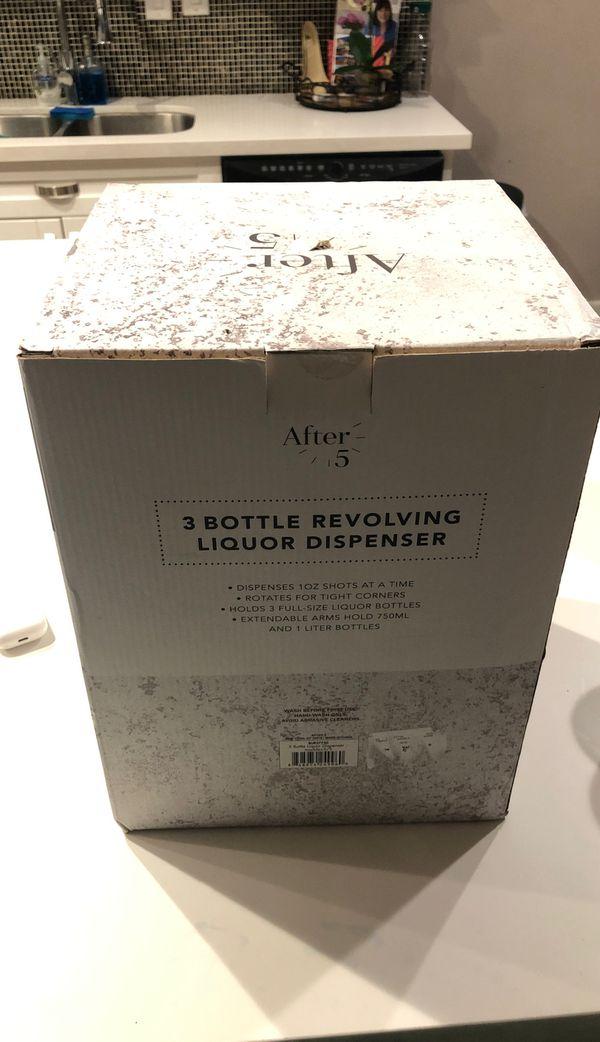 """After 5 """"3 Bottle Revolving Liquor Dispenser"""