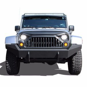 Gladiator Vader Grille Matte Black Upgrade for 2007 – 2017 Jeep Wrangler JK JKU Sahara Rubicon Sport Unlimited Front Exterior Body Part OE Replacement for Sale in Fullerton, CA