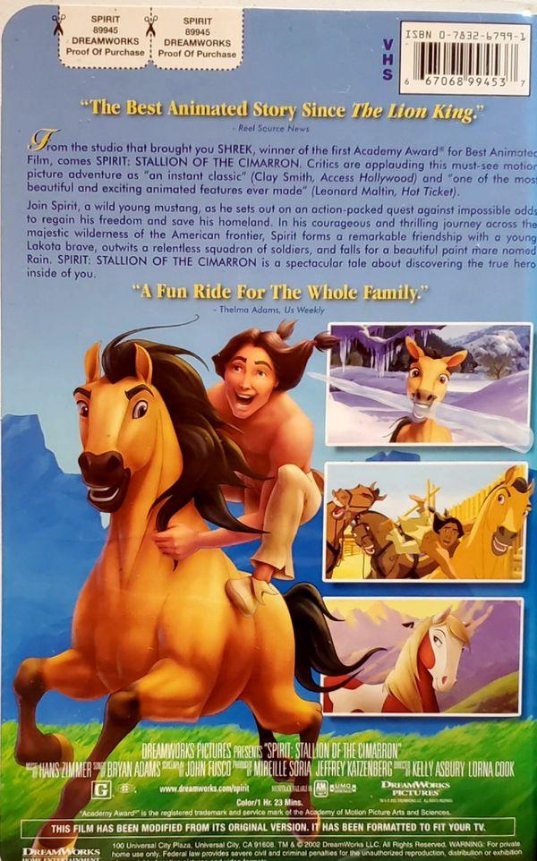 Spirit: Stallion of the Cimarron VHS Tape
