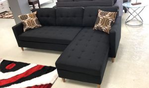 Brand New Black Linen Sectional Sofa Couch for Sale in Washington, DC