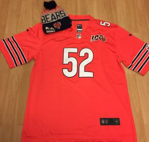 Mack bears football jersey brand new 2XL brand new includes brand new beanie for $45 for Sale in Forest Park, IL