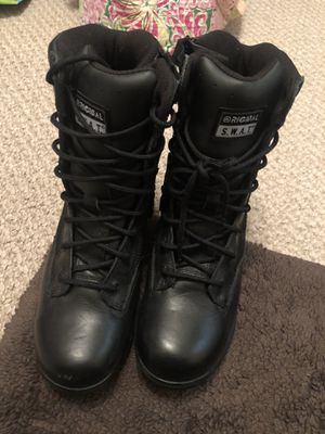 Swat boots women's size 10.5 men's 8.5 for Sale in Lewiston, NY