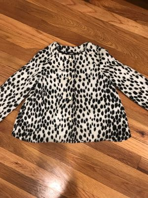 Janie and jack girls jacket size 6 black and white furry for Sale in Chicago, IL